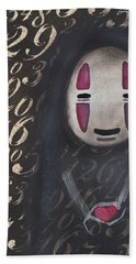 No Face With A Heart Hand Towel by Abril Andrade Griffith