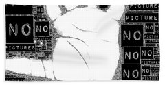 No Pictures Hand Towel by ISAW Gallery