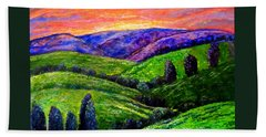 No Place Like The Hills Of Tennessee Hand Towel by Kimberlee Baxter