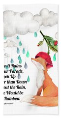 Hand Towel featuring the digital art No Rain On My Parade by Colleen Taylor