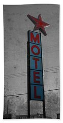 No Tell Motel Hand Towel by Jerry Cordeiro