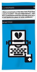 No011-my-miss Lonelyhearts-book-icon-poster Bath Towel