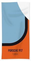 No016 My Le Mans Minimal Movie Car Poster Bath Towel