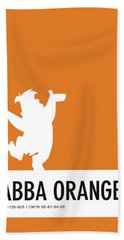 No04 My Minimal Color Code Poster Fred Flintstone Hand Towel by Chungkong Art