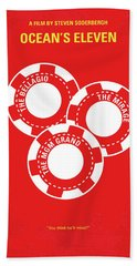 No056 My Oceans 11 Minimal Movie Poster Hand Towel