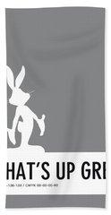 No06 My Minimal Color Code Poster Bugs Hand Towel by Chungkong Art