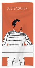 No063 My Kraftwerk Minimal Music Poster Bath Towel
