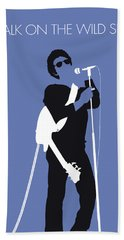 No068 My Lou Reed Minimal Music Poster Bath Towel