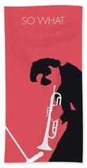 No082 My Miles Davis Minimal Music Poster Bath Towel