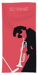No082 My Miles Davis Minimal Music Poster Hand Towel