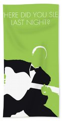No096 My Lead Belly Minimal Music Poster Bath Towel
