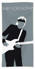 No107 My Mark Knopfler Minimal Music Poster Bath Towel