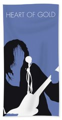 No128 My Neil Young Minimal Music Poster Bath Towel