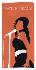 No133 My Amy Winehouse Minimal Music Poster Hand Towel
