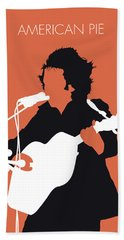 No143 My Don Mclean Minimal Music Poster Bath Towel