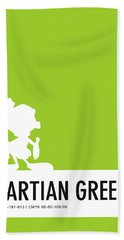 No15 My Minimal Color Code Poster Marvin Hand Towel
