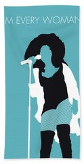 No155 My Chaka Khan Minimal Music Poster Hand Towel