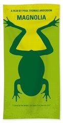 No159 My Magnolia Minimal Movie Poster Bath Towel