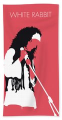 No172 My Jefferson Airplane Minimal Music Poster Bath Towel