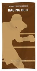 No174 My Raging Bull Minimal Movie Poster Bath Towel