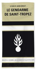 No186 My Le Gendarme De Saint-tropez Minimal Movie Poster Bath Towel