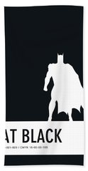 No20 My Minimal Color Code Poster Batman Bath Towel