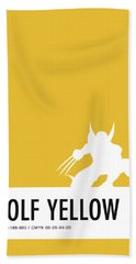 No21 My Minimal Color Code Poster Wolverine Bath Towel
