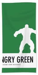 No22 My Minimal Color Code Poster Hulk Bath Towel