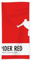 No24 My Minimal Color Code Poster Spiderman Bath Towel