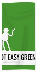 No25 My Minimal Color Code Poster Kermit  Bath Towel