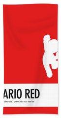 No33 My Minimal Color Code Poster Mario Hand Towel