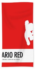 No33 My Minimal Color Code Poster Mario Bath Towel