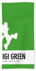 No34 My Minimal Color Code Poster Luigi Bath Towel