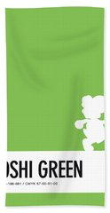 No36 My Minimal Color Code Poster Yoshi Bath Towel