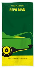 No478 My Repo Man Minimal Movie Poster Bath Towel