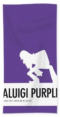 No42 My Minimal Color Code Poster Waluigi Bath Towel