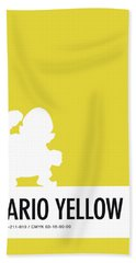 No43 My Minimal Color Code Poster Wario Hand Towel