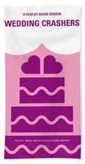 No437 My Wedding Crashers Minimal Movie Poster Bath Towel