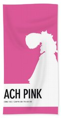 No44 My Minimal Color Code Poster Peach Hand Towel