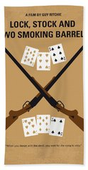 No441 My Lock Stock And Two Smoking Barrels Minimal Movie Poster Bath Towel