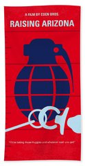 No477 My Raising Arizona Minimal Movie Poster Bath Towel