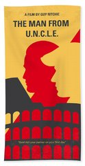 No572 My Man From Uncle Minimal Movie Poster Bath Towel
