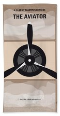 No618 My The Aviator Minimal Movie Poster Hand Towel by Chungkong Art