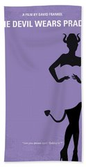 No661 My The Devil Wears Prada Minimal Movie Poster Bath Towel