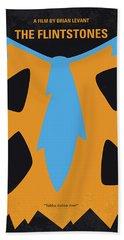 No669 My The Flintstones Minimal Movie Poster Bath Towel