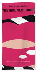 No670 My The Girl Next Door Minimal Movie Poster Bath Towel
