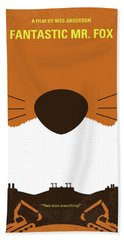 No673 My Fantastic Mr Fox Minimal Movie Poster Hand Towel
