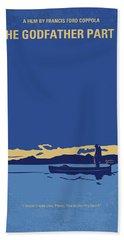 No686-2 My Godfather II Minimal Movie Poster Bath Towel
