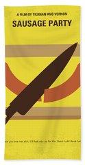 No704 My Sausage Party Minimal Movie Poster Hand Towel