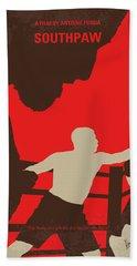 No723 My Southpaw Minimal Movie Poster Bath Towel